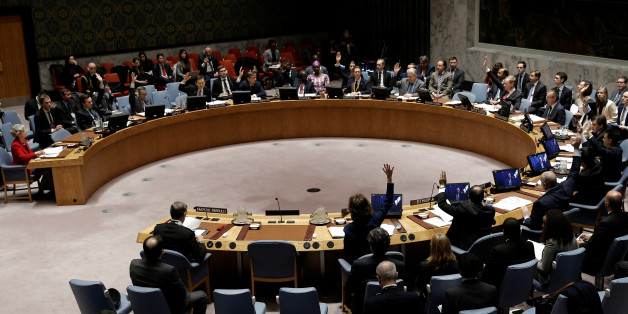 The United Nations Security Council votes to adopt a resolution on the protection of cultural heritage in armed conflict during a Security Council meeting at U.N. headquarters in New York City, New York, U.S., March 24, 2017. REUTERS/Mike Segar