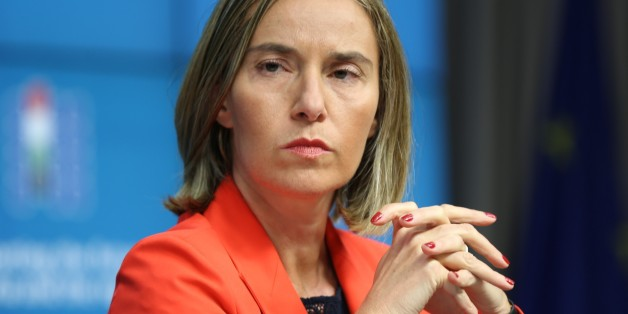 BRUSSELS, BELGIUM - APRIL 05: High Representative of the European Union for Foreign Affairs and Security Policy Federica Mogherini holds a press conference after the Supporting Syria Conference in Brussels, Belgium on April 05, 2017.  (Photo by Dursun Aydemir/Anadolu Agency/Getty Images)