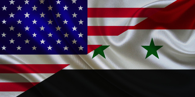 USA and Syrian Flag