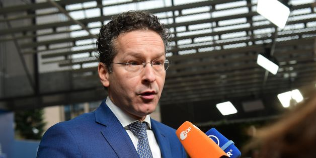 Eurogroup President and Dutch Finance Minister Jeroen Dijsselbloem speaks to the press during an Economic and Financial (ECOFIN) Affairs Council meeting at the European Council, in Brussels, on February 21, 2017.  / AFP / EMMANUEL DUNAND        (Photo credit should read EMMANUEL DUNAND/AFP/Getty Images)