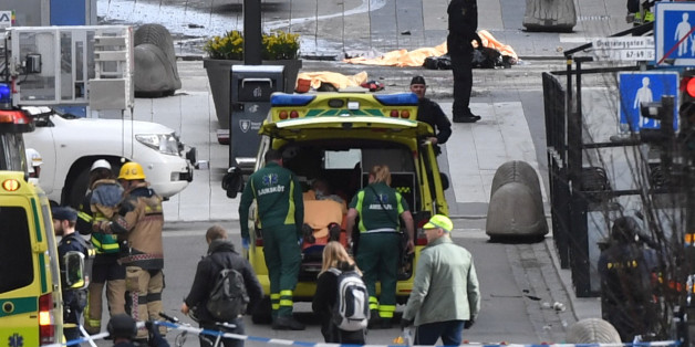People were killed when a truck crashed into department store Ahlens on Drottninggatan, in central Stockholm, Sweden April 7, 2017. TT News Agency/Fredrik Sandberg/via REUTERS    ATTENTION EDITORS - THIS IMAGE WAS PROVIDED BY A THIRD PARTY. FOR EDITORIAL USE ONLY. NOT FOR SALE FOR MARKETING OR ADVERTISING CAMPAIGNS. SWEDEN OUT. NO COMMERCIAL OR EDITORIAL SALES IN SWEDEN. NO COMMERCIAL SALES.