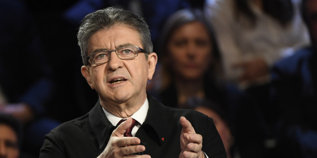 Jean-Luc Melenchon of the Parti de Gauche attends a prime-time televised debate for the candidates at French 2017 presidential election in La Plaine Saint-Denis, near Paris, France, April 4, 2017.  REUTERS/Lionel Bonaventure/Pool