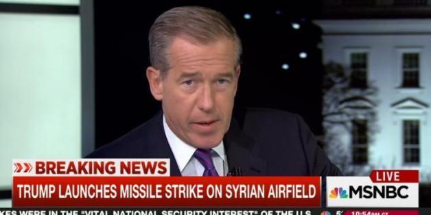 "MSNBC-Moderator Brian Williams fand Trumps Raketenangriffe besonders ""schön"""