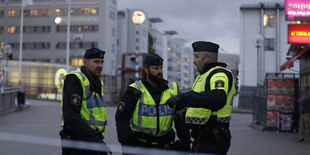 STOCKHOLM, SWEDEN - OCTOBER 17: Police shut down due to a suspicious object found by police outside the Tele2 Arena  on October 17, 2016 in Stockholm, Sweden. (Photo by Nils Petter Nilsson/Ombrello via Getty Images)