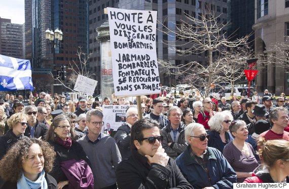 bombardier protest