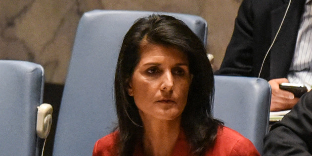 United States Ambassador to the United Nations Nikki Haley attends the Security Council meeting on the situation in Syria at the United Nations Headquarters, in New York, U.S,  April 7, 2017. REUTERS/Stephanie Keith