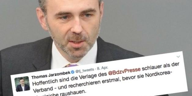 """Zeitungsverleger kritisieren Idee von Thomas Jarzombek: """"Für Nordkorea geeignet, nicht für Deutschland"""""""