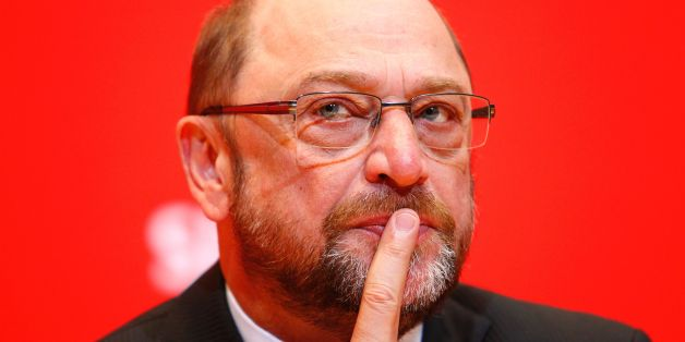 Martin Schulz, chairman of Germany's social democratic SPD party and candidate for Chancellor, speaks to journalists of the Foreign Press at the SPD headquarters in Berlin on April 10, 2017. / AFP PHOTO / MICHELE TANTUSSI        (Photo credit should read MICHELE TANTUSSI/AFP/Getty Images)