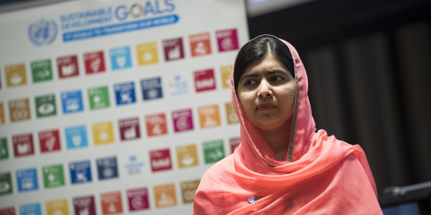 NEW YORK, NY - APRIL 10: Malala Yousafzai looks on during a ceremony to name her as a United Nations Messenger of Peace at UN headquarters, April 10, 2017 in New York City. Yousafzai, who is the youngest winner of the Nobel Peace Prize, will now become the youngest to be named a United Nations Messenger of Peace. (Photo by Drew Angerer/Getty Images)