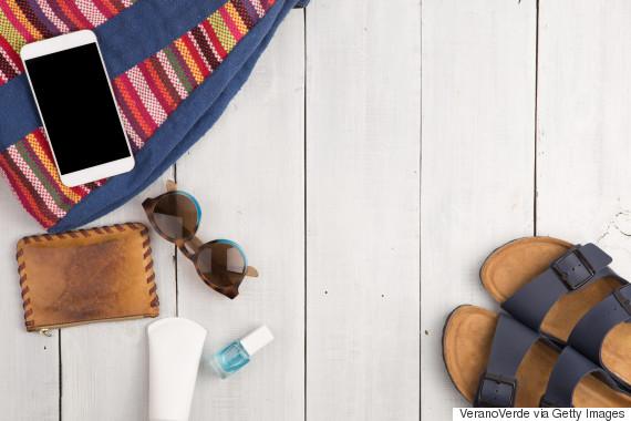 smartphone in purse