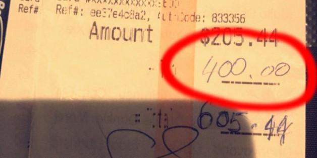 Das Paar spendierte der Kellnerin ein Trinkgeld über 400 US-Dollar