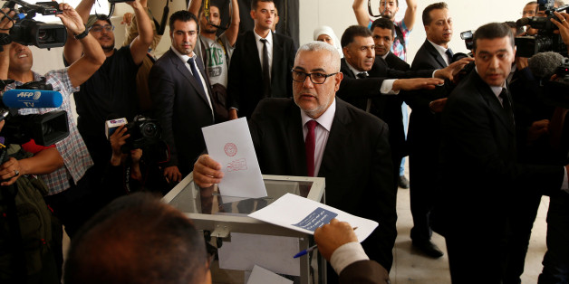 Abdelillah Benkirane, secretary-general of the Islamist Justice and Development party (PJD), casts his ballot at a polling station in Rabat October 7, 2016. REUTERS/Youssef Boudlal