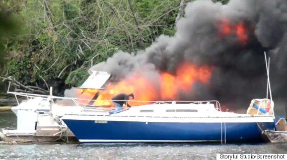 victoria boat fire