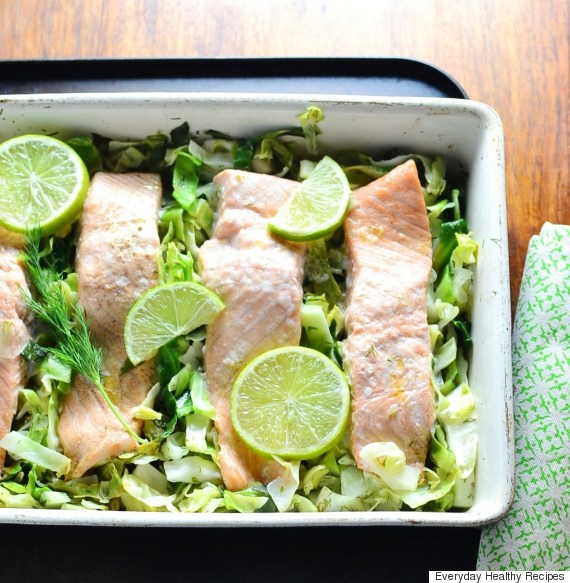 sweetheart cabbage and dill salmon