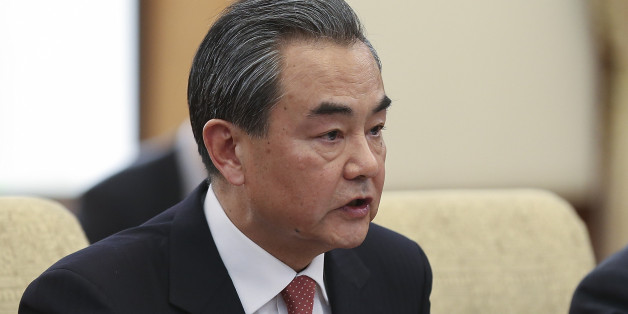 BEIJING, CHINA - MARCH 18:  Chinese Foreign Minister Wang Yi (L) during a meeting with U.S. Secretary of State Rex Tillerson (not pictured) at Diaoyutai State Guesthouse on March 18, 2017 in Beijing, China. Tillerson is on his first visit to Asia as Secretary of State.  (Photo by Lintao Zhang/Pool/Getty Images)