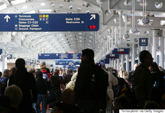 airport crowd ohare