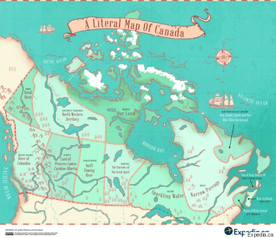 Map Reveals Name Origins Of Canada\'s Provinces And Territories ...
