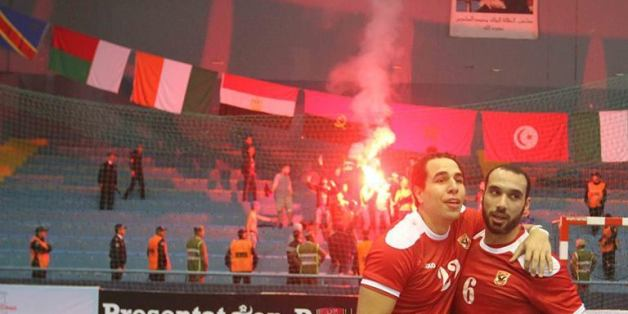 Quatre supporters d'Al Ahly devant le parquet d'Agadir.