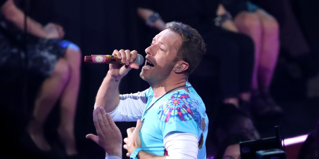 INGLEWOOD, CA - MARCH 05:  Singer-songwriter Chris Martin of Coldplay performs onstage at the 2017 iHeartRadio Music Awards which broadcast live on Turner's TBS, TNT, and truTV at The Forum on March 5, 2017 in Inglewood, California.  (Photo by Rich Polk/Getty Images for iHeartMedia)