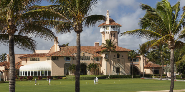 Grand interior reception at Donald Trump's Mar-a-Lago Estate in Florida
