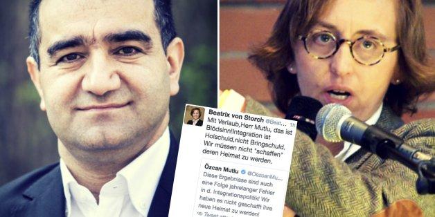 Streiten sich auf Twitter: Grünen-Politiker Mutlu und AfD-Frau von Storch