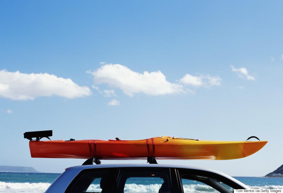 car with kayak on top