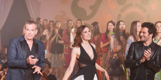 Samedi 15 avril 2017, à la Tour Sofitel de Casablanca. Garou, Camille Lou et Amir lors de la clôture du 10ème Casa Fashion Show