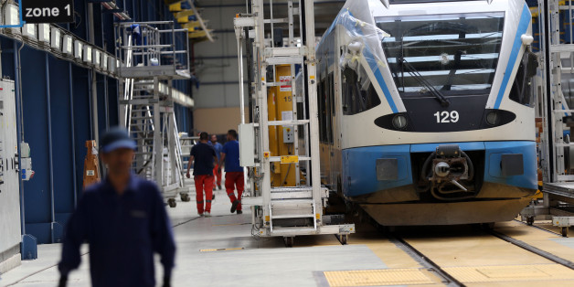 Maintenance room of train Hussein Dey by RATP Dev. in Algiers, Algiersia, on 21 April 2016.RATP Dev launches Algiers first metro line. The 9-kilometre underground line makes Algiers the first Maghreb city to operate a metro system.With its 14 trains comprised of 6 air-conditioned passenger cars each, the Algiers Metro will serve 10 stations in 6 communes: Bachdjarah, El Magharia, Hussein Dey, El Hamma, Sidi MHamed and Algiers Centre. (Photo by Billal Bensalem/NurPhoto via Getty Images)