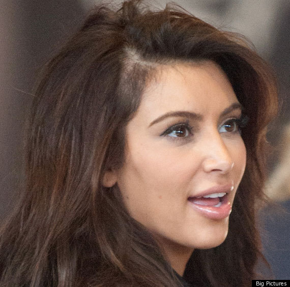 Kim Kardashian Displays Bald Patch At Paris Fashion Week