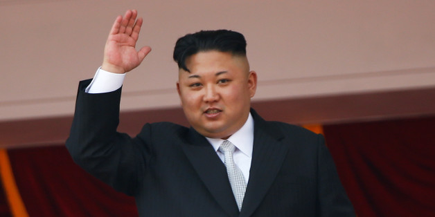North Korean leader Kim Jong Un waves to people attending a military parade marking the 105th birth anniversary of country's founding father, Kim Il Sung in Pyongyang, April 15, 2017.  REUTERS/Damir Sagolj