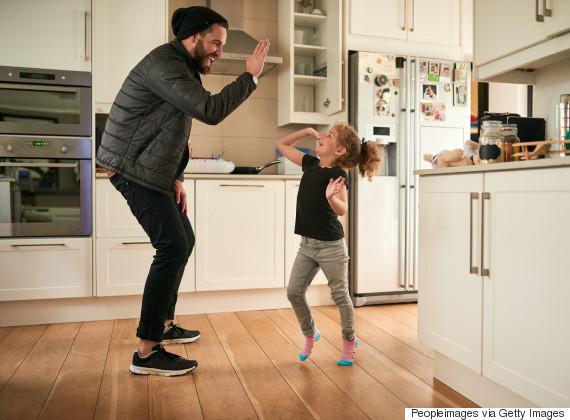 parent child highfive