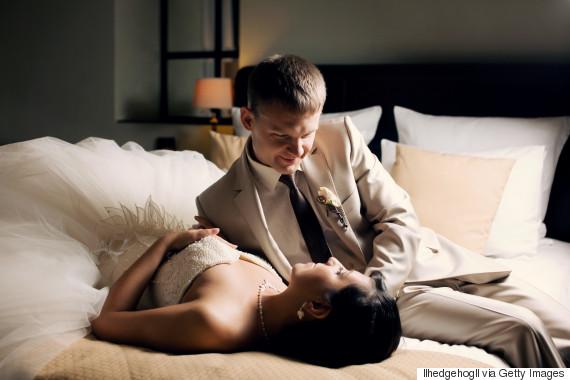 bride groom bed