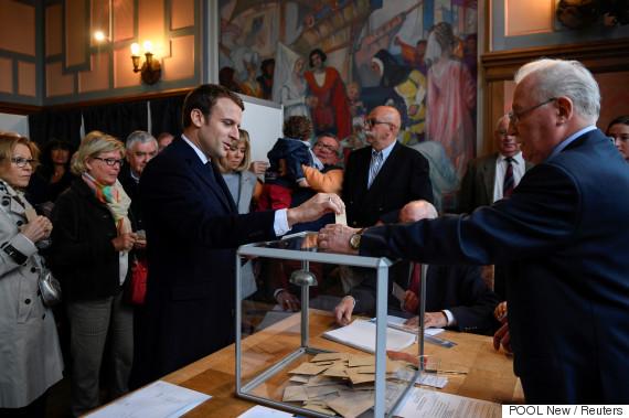 france macron election 23 april 2017