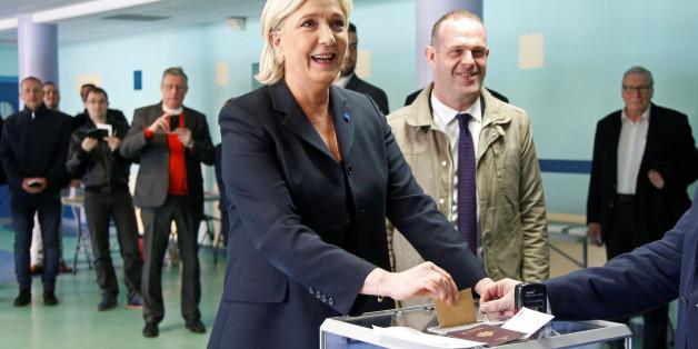 Marine Le Pen strahlte bei der Stimmabgabe