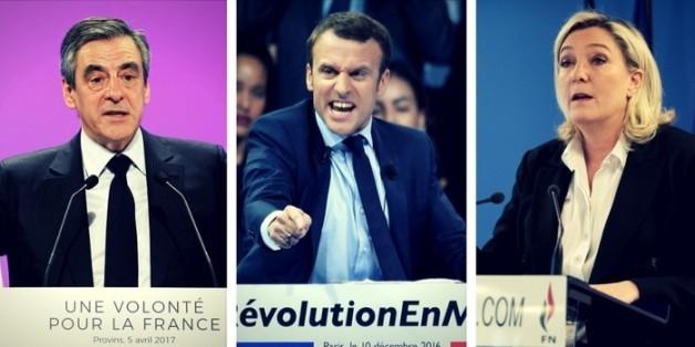 Der Vierkampf: Diese Kandidaten haben die größten Chancen bei der Wahl in Frankreich