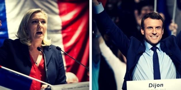 Gehen in die Stichwahl: Emmanuel Macron und Marine Le Pen