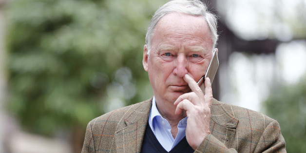 Alexander Gauland of Germany's anti-immigration party Alternative for Germany (AFD) makes a phone call in  Maritim hotel before the AFD's party congress in Cologne, Germany, April 21, 2017. REUTERS/Wolfgang Rattay