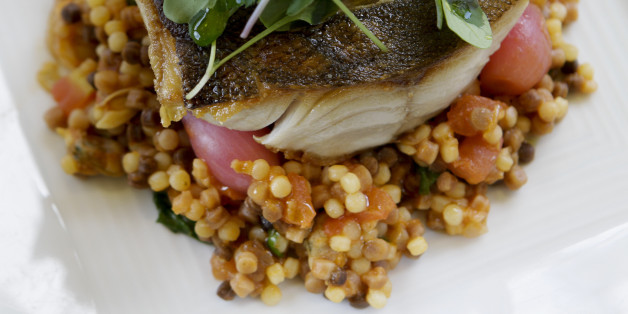 Black cod over fregola sarda is served at A1 Cucina Italiana in Beverly Hills on April 25, 2012.  (Photo by Anne Cusack/Los Angeles Times via Getty Images)