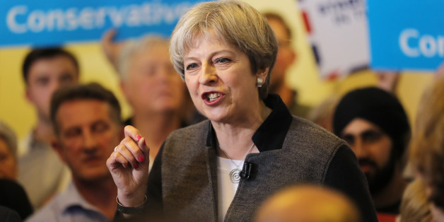 DUDLEY, UNITED KINGDOM - APRIL 22: Prime Minster Theresa May delivers a stump speech at Netherton Conservative Club during the Conservative Party's election campaign on April 22, 2017 in Dudley, England. (Photo by Chris Radburn - WPA Pool/Getty Images)
