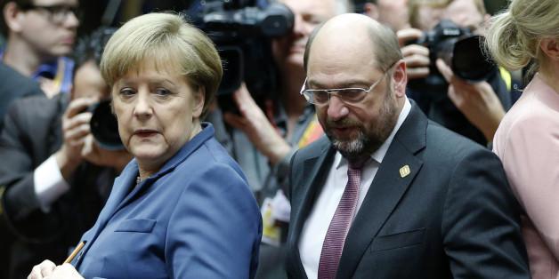 CDU-Chefin Angela Merkel und SPD-Chef Martin Schulz