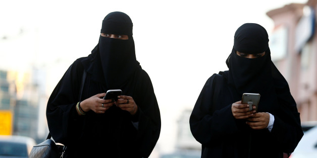 Saudi women use the Careem app on their mobile phones in Riyadh, Saudi Arabia, January 2, 2017. Picture taken January 2, 2017. REUTERS/Faisal Al Nasser