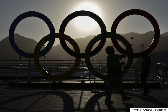 rio olympic rings