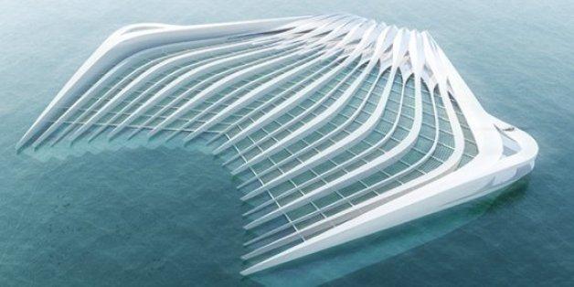 Die Plattform soll die Meeresströmung beruhigen und dann Plastikpartikel filtern