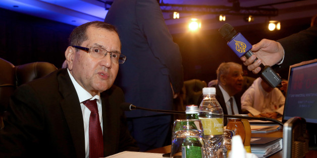 Algeria's Minister of Energy Noureddine Boutarfa (L), speaks to the press during a meeting for the 2nd Joint Ministerial Monitoring Committee of OPEC, in Kuwait City, on March 26, 2017. / AFP PHOTO / Yasser Al-Zayyat        (Photo credit should read YASSER AL-ZAYYAT/AFP/Getty Images)