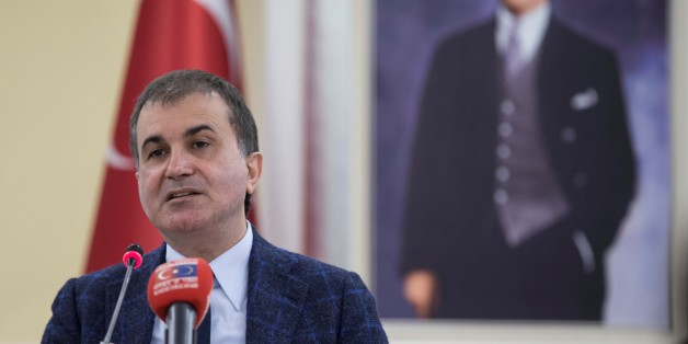 ANKARA, TURKEY - APRIL 18: Turkey's EU Minister Omer Celik delivers a speech during a press conference at the ministry in Ankara, Turkey on April 18, 2017.  (Photo by Binnur Ege Gurun/Anadolu Agency/Getty Images)