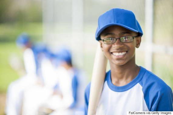 young boy baseball