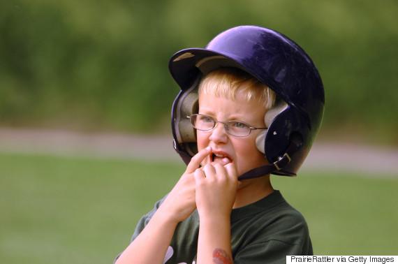 nervous boy baseball