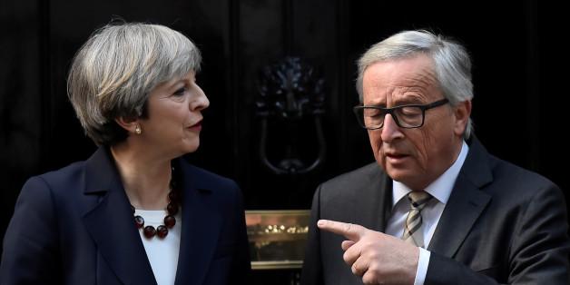 7 Momente beim Dinner von May und Juncker zeigen, warum der Brexit zum Desaster werden könnte
