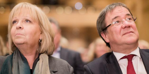 Ministerpräsidentin Hannelore Kraft und CDU-Spitzenkandidat Armin Laschet treffen im TV-Duell aufeinander