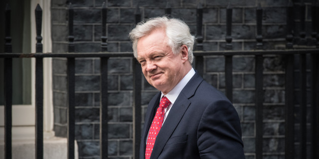 LONDON, ENGLAND - APRIL 26: Secretary of State for Exiting the European Union, David Davis, arrives to attend talks between Britain's Prime Minister Theresa May and European Commission president, Jean-Claude Juncker, on April 26, 2017 in Downing Street, London, England. Prime Minister May is to hold her first major talks with E.U leaders since calling a general election in a bid to strengthen her position in forthcoming Brexit negotiations. (Photo by Carl Court/Getty Images)